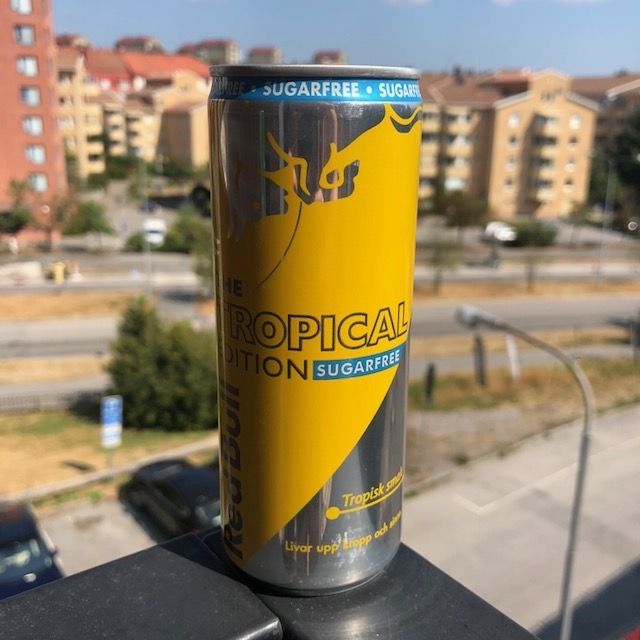 red bull sugarfree edition tropisk