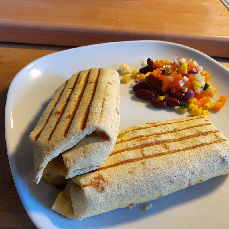 nyttig burrito med kycklingbacon